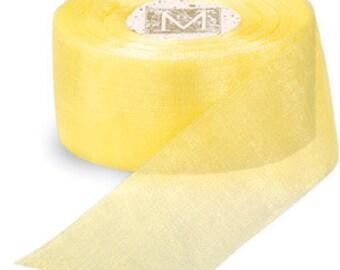 """Midori Organdy Ribbon 3/4"""" Color Yellow"""