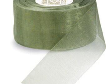 "Midori Organdy Ribbon 3/4"" Color Willow"