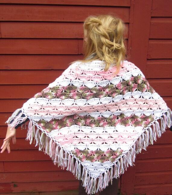 The Bohemian Princess Fringe Vintage Shawl Kimono Slip On Sweater One Size By MountainGirlClothing