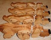 Oak Hound pull toys