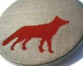 Fox modern cross stitch