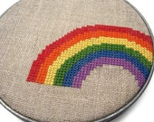 Rainbow modern cross stitch