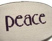 Peace modern cross stitch