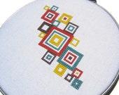 Mod squares modern cross stitch
