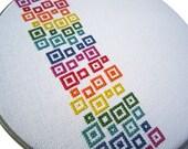 Rainbow confetti modern cross stitch