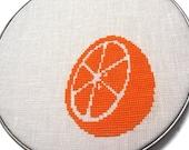 Citrus modern cross stitch