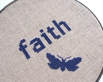 Faith modern cross stitch