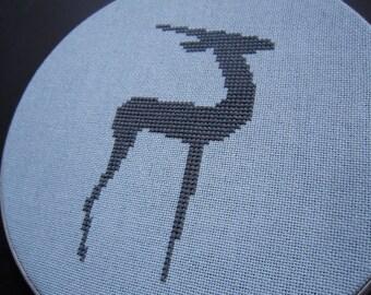 Deer modern cross stitch