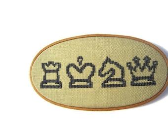 Chess modern cross stitch pattern