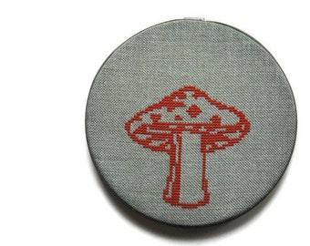 Mushroom modern cross stitch pattern