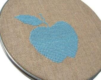Apple modern cross stitch