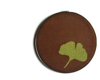 Ginkgo modern cross stitch pattern