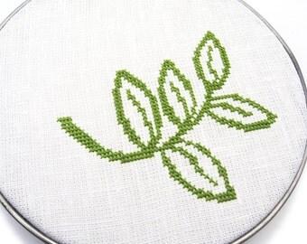 Sprig modern cross stitch