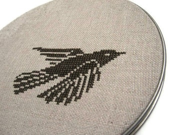 Bird modern cross stitch
