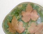 Copper Ivy Leaves trinket tray