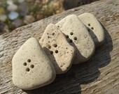 JUMBO Beach Brick BUTTONS Stone Buttons