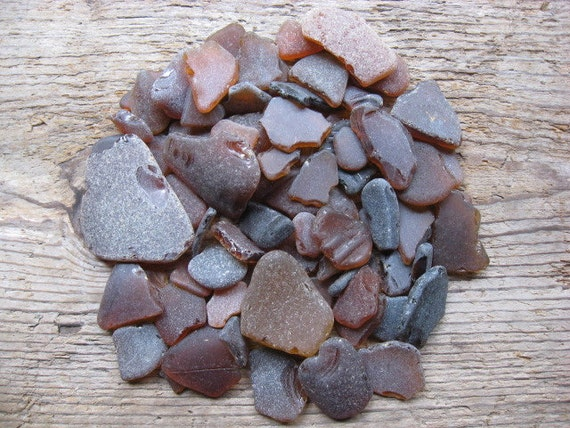 BROWN Bulk Beach Glass Great for crafts and mosaics