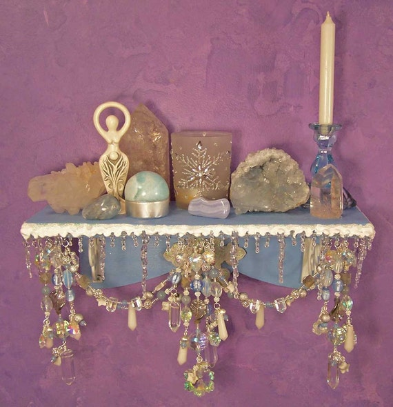 Winter wonderland wall altar ooak pagan decor for Altar wall decoration