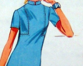 Vintage A Line Dress, Tunic and Pants Size 14 Bust 36 Simplicity 9219 Sewing Pattern