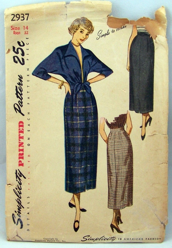 Vintage Simplicity 2937 Sewing Pattern Simple to Make Jacket and Skirt Size 14
