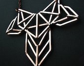 Copper Geometric Necklace - Art Deco Revival Necklace - Inspired by Armatures Bridge Structures - jewelry made in Austin,Tx