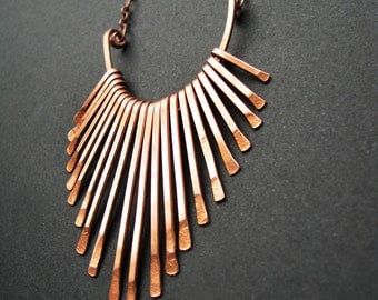 Copper Necklace - Fringe Freya Design - handmade copper jewelry in Austin, Tx - made by Jamie Spinello