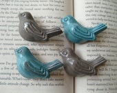 4 birds, cast iron knobs, 2 new colors MEDITERRANEAN and CAPPUCCINO, also available in light blue, brown, cream, pink, and glossy red, glossy yellow, glossy midnight blue