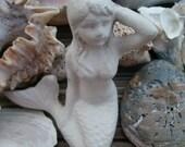 mermaid cast iron desk topper, paperweight, beach lover, hostess gift
