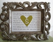 6 bridesmaids gifts, customized 5 x 7 print/cards with your 55-60 words for each recipient