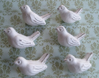 10 bird knobs, best seller furniture knobs drawer pulls cottage chic nursery decor childs bedroom refinished furniture