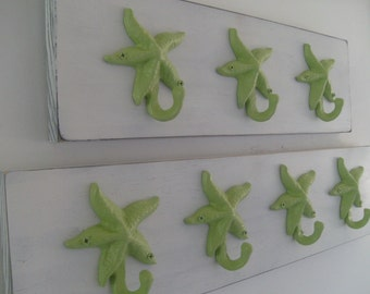beach towel rack starfish seahorse sand dollar outdoor shower pool hot tub cottage coastal living nautical bathroom towels BeachHouseeams