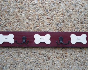 dog leash collar harness hooks purchase by 12 15 personalized dog lovers custom leash hangers dogs names BeachHouseDreamsHome Outer Banks