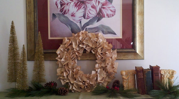 Vintage book pages wreath, antique law book made when purchased allow 2 weeks before shipping