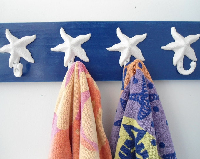 starfish coat rack foyer mudroom beach towel bathroom towel cottage renovation Nautical nursery Outer Banks Beach House Dreams OBX