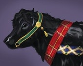Scottish Beltie - Belted Galloway Carousel Cow Fine Art Note Cards