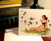 Paisley Butterfly Greeting Card and Envelope (Single)