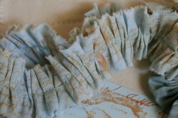 Ruffled Rag Trim - Marie Blue