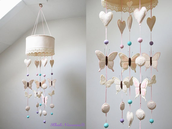 LOOK ON SALE, Baby crib mobile or child bed canopy, Comes with a Vintage Childrens book