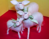 Sheep Family Felted Wool