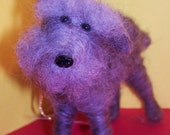 """Schnauzer Felted Wool Dog 5"""" Ornament"""