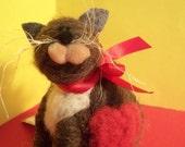 Valentine's Day Wool Cat