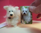 Terrier Dog Felted Ornament