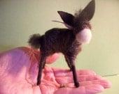 Baby Donkey Felted Ornament/Figurine