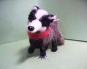 Badger Felted Wool Ornament