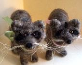Rinaldo Raccoon Wool Wrapped and Needle Felted Ornament