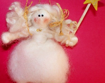 Princess Fairy Felted Wool Ornament