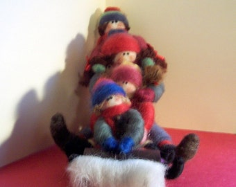 A Day on the Slopes Felted Wool Figurine