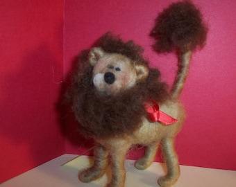Leonard the Lion Needle Felted Wool Ornament