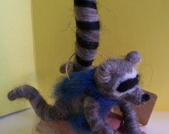 Wool Bellyflopping Raccoon