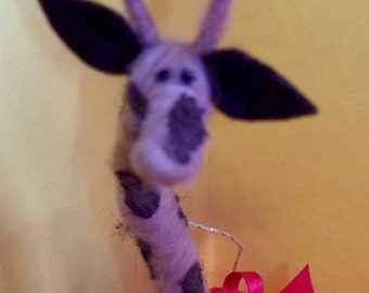 Giraffe Felted Wool Ornament/Figurine